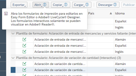plantillas SAP, sap Adobe LiveCycle Designer