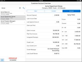 jde Customer Account Overview