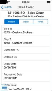 jde 9.2 - search sales order movil neteris