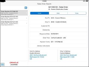 jde 9.2 - search sales order tablet neteris